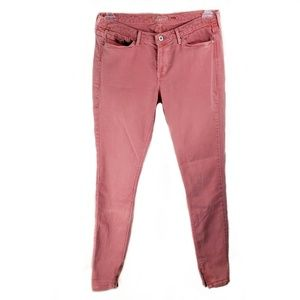 """Levi's pink skinny jeans with zip ankles 32""""inseam"""